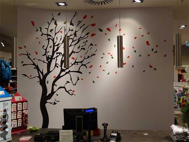 ... Wandgestaltung Baum ...