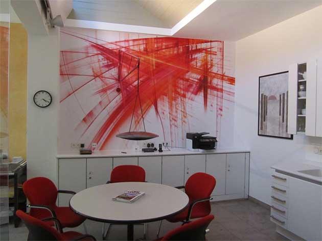 Hochwertig ... Wandgestaltung Abstrakt Rot ...